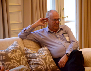 Shmuel Brenner reflects the relaxed nature of his meeting with Arava Institute supporters March 30.