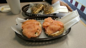 Sunny's Lox bagel was good but not spectacular.