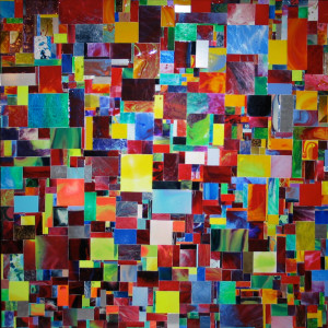 This mosaic reflects the inspiration of Hans Hofmann, who influenced many of the abstract expressionists.