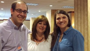 Rabbi Micah Lapidus joins Edye Summerfield (center) and Jamah Maman at the ECE-RJ conference in Memphis.