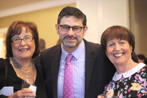 Etta Raye Hirsch (left) and Carol Cooper join Epstein's head of school, David Abusch-Magder.