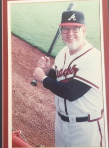 Dan Appelrouth attends a Braves fantasy camp.