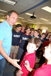 David Blatt meets with Davis Academy middle-schoolers May 19.
