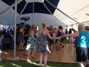 Swingin' Sabbath is a late-summer attraction in Wilson, Wyo.