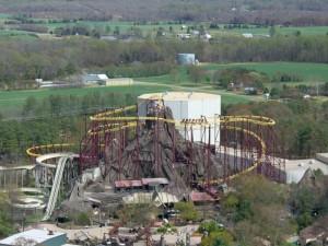 The Volcano coaster at Kings Dominion. (Photo Wikipedia)