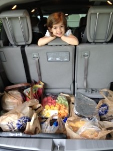 Food is packed for women attending a conference at the Sheraton during Shabbat on May 20 and 21.