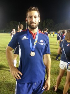 AJT Associate Editor David Cohen (the writer of this article) took home a Bronze medal in Rugby at the 2013 games
