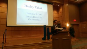 Jewish Home Life Communities CEO Harley Tabak introduces YAD's first speaker June 2.