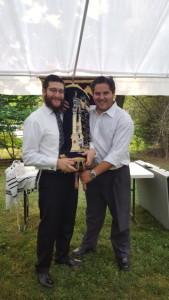 Rabbi Levi Mentz (left) and Jeremy Lefkovits