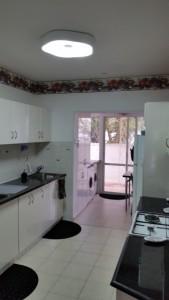 The Barrs have a sleek, modern kitchen.