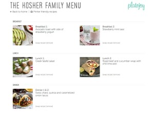 Meal plans from PlateJoy are customized for subscribers and their families based on a variety of factors, including a desire to be kosher.