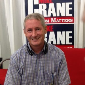 Mike Crane is a state senator, a general contractor and the father of two.