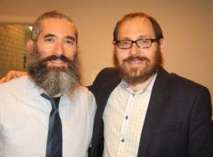 Chabad Intown Rabbis Eliyahu Schusterman (left) and Ari Sollish