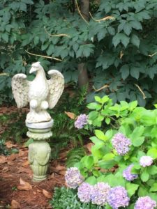 This eagle statue reflects the German meaning of the name Adler.