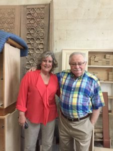 Lidia and Israel Peljovich's recent projects include the restoration of 500-year-old synagogue doors from Spain.
