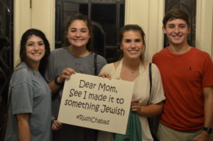 Photos by Aaron Roberson for Chabad Jewish Student Center at KSU The signs say it all as Kennesaw State students start the school year right by spending some time with Chabad.