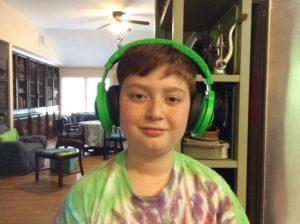 Zellik sports the headphones he was destined to own.
