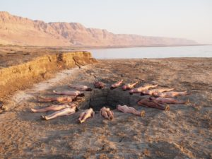 NSFW: one of Spencer Tunick's provocative Dead sea photos. --- Photo credit : Spencer Tunick