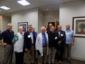 A Western Galilee Cluster delegation visits Emory St. Joseph's Hospital on Sept. 13.