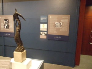 """This scale replica of """"Atlanta Rising From the Ashes,"""" a statue the Rich family gave to the city, was kept in the department store's corporate offices and was part of the """"18 Artifacts"""" exhibit of Atlanta's Jewish history."""
