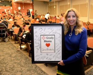 The Sara Blakely Foundation supported the Grady baby shower with a $100,000 grant.