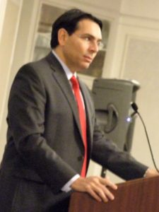 Ambassador Danny Danon thanks the Israel Bonds crowd for its unconditional love and support for Israel.