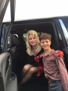 Dylan Rowen is appearing in his second TV movie as Dolly Parton's brother.