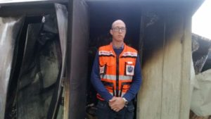 """Photo by United Hatzalah United Hatzalah volunteer paramedic Doron Shafir's Haifa apartment was destroyed Nov. 24 while he was providing medical aid with his ambucycle and assisting evacuations in the city. """"As our neighbors began to return home, we all took solace in the unity of our tragedy and began to work together to figure out who to call and how to handle the situation,"""" Shafir wrote. """"How do we rebuild what was lost?"""""""