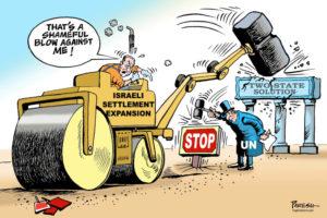 Choosing David Friedman as U.S. ambassador to Israel is a good way to spread such views of Israel worldwide. (Cartoon by Paresh Nath, The Khaleej Times, United Arab Emirates)