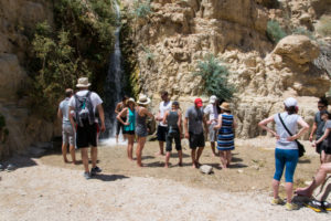 HMI friends get relief from the heat at Nahal David, a freshwater spring and waterfall.