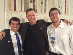 FIDF Southeast Chairman Garry Sobel (left) poses with retired Brig. Gen. Relik Shafir and lone soldier Zach Olstein.