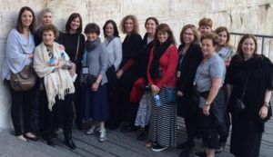 The 14 representatives of the Jewish Women's Fund of Atlanta visit the Western Wall during their recent mission to visit grantees in Israel.