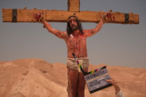 """No, it's not Jesus; it's Norbert (Gilles Lellouche), whose crucifixion might be the source of Jew-hatred in """"The Jews,"""" a comedy screening Jan. 27 and Feb. 4, 6 and 15."""