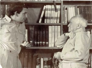 "Clinton Bailey speaks with David Ben-Gurion in 1968, producing the interview that's the basis of ""Ben-Gurion, Epilogue,"" screening Feb. 11, 12 and 13."