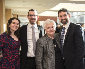 Photo by Harold Alan Photographers Attending the tribute are (from left) Michelle Appelrouth Seltzer, Rabbi David Appelrouth, Arlene Appelrouth and Jed Appelrouth.