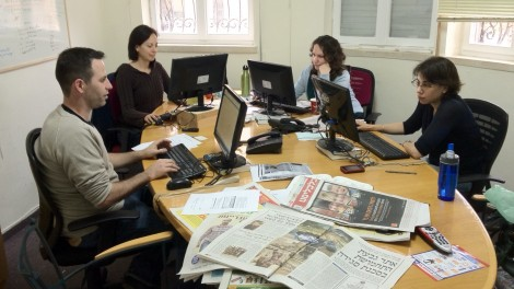 The Times of Israel newsroom (photo credit: Elie Leshem/The Times of Israel)