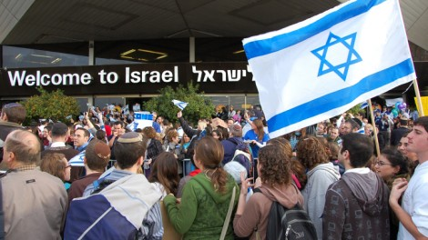 New olim are welcomed at Ben Gurion International Airport (photo credit: Rachael Cerrotti/Flash90)