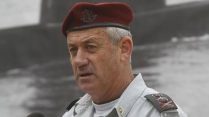 'Ready for action': Chief of Staff Lt. Gen. Benny Gantz (photo credit: Uri Lenz/Flash90)