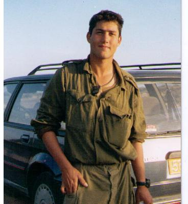 Before the accident: A 21-year-old Gaby Zwebner in uniform.
