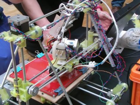 A RepRap 3D printer (photo credit: CC BY-SA osde8info, Flickr)