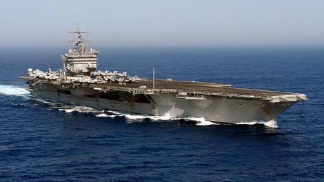 The USS Enterprise (public domain via Wikipedia)