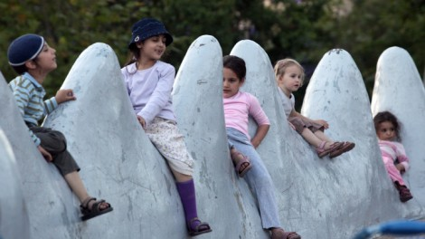 Children at play in Jerusalem's Liberty Bell Park (photo credit: Yossi Zamir/Flash90)