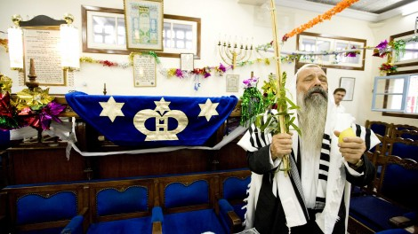 Rabbi Aharon Cohen, the head of the Jewish community  in Casablanca, is one of only a handful of Jews remaining in Morocco today. (photo credit: Abir Sultan / Flash 90)
