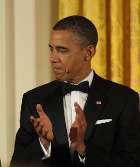 On the way out? President Barack Obama (photo credit: Amos Ben Gershom/ GPO/Flash90)