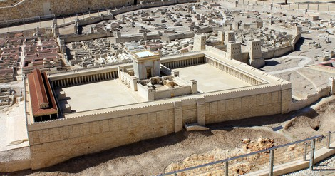 In pursuit of a larger moral imperative. A model of the Temple in Jerusalem