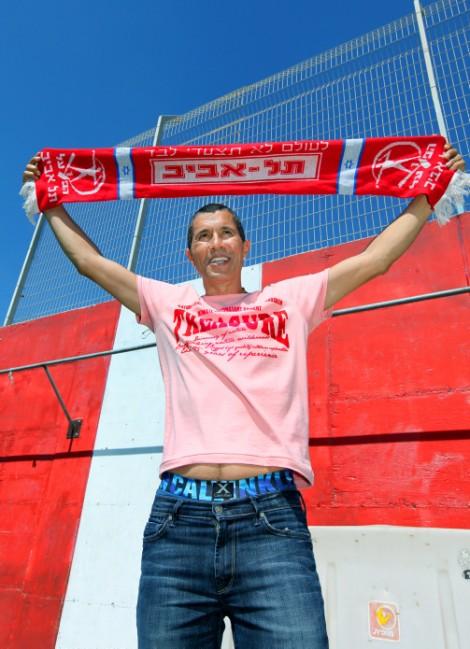 The fans weren't sad to see him go. Former Hapoel Tel Aviv owner Eli Tabib (photo credit: Moshe Shai/Flash90)