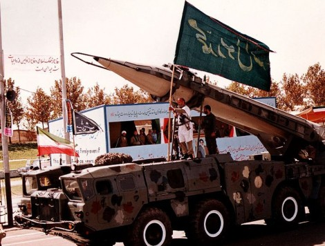 Nothing but a numbers game? An Iranian Shahab 3 missile (photo credit: CC BY sajed.ir, Wikipedia)