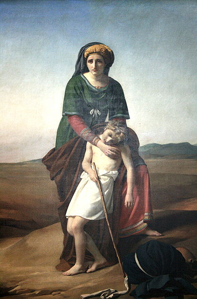 'Hagar and Ishmael in the Desert,' by François-Joseph Navez, 1820