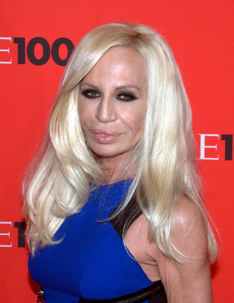 Donatella Versace, looking very operated-on