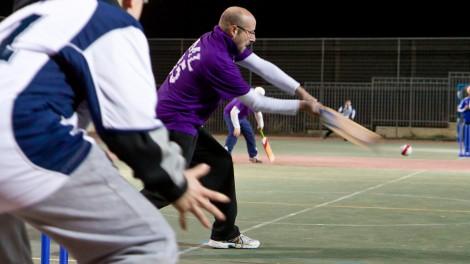 Night cricket action (photo credit: courtesy Herschel Gutman)